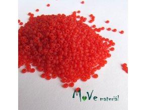 Český rokajl červený matný cca 2mm 20 g