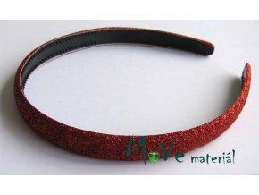 Čelenka jednoduchá potažená lurexem červená