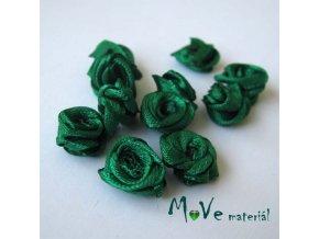 Růžička saténová zelená 12mm, 10kusy