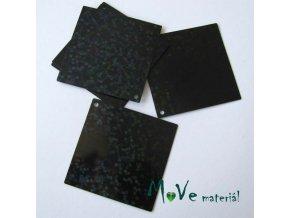 Flitry hladké 30x30mm, 6ks, černá