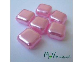 České voskové perle kosočtverec 6 ks, růžová