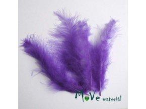 Pštrosí peří délka 120-170mm, 4ks temně fialové