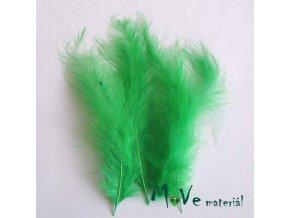 Pštrosí peří délka 120-170mm, 4ks tm. zelené