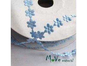 Aplikace květinky modrá - šíře 7mm, 1m