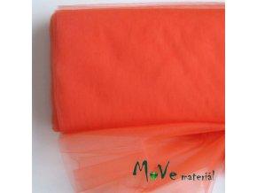 svatební tyl jemný tmavě oranžový 50 cm/ š 280 cm