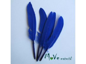 Ozdobné kachní peří délka 120-140mm, 4ks modré