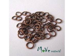 Spojovací kroužek průměr 5mm, cca 64ks