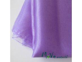 Organza světle fialová140cm/ 20 cm