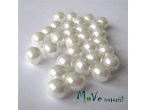 České voskové perle perleťové 8mm 30 ks