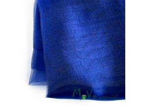 Organza modrá140cm/ 20 cm