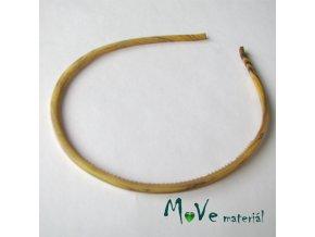 Čelenka jednoduchá plastová žlutohnědá