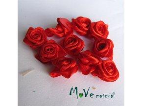 Růžička saténová červená 15mm, 10kusů