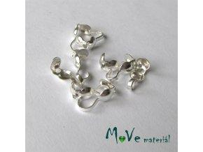 Kalota na zakončení návl. materiálu,10ks, stříbrná