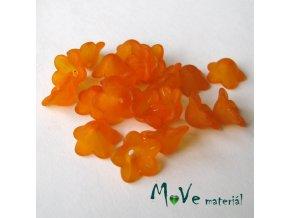 Zvonečky transparentní 13x6mm, 20ks, oranžové