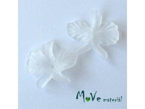 Akrylový květ orchidej 36x32mm, 2ks, bílý