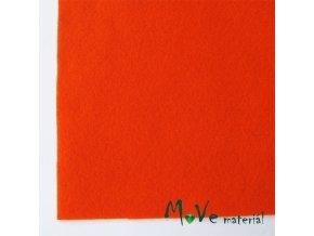 Plsť (filc) 20x30cm, 1ks, tmavě oranžová