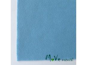 Plsť (filc) 20x30cm, 1ks, bledě modrá