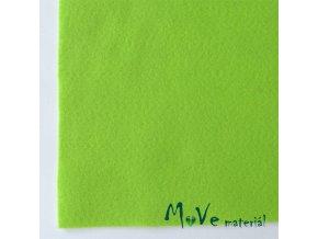 Plsť (filc) 20x30cm, 1ks, světle zelená