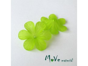 Akrylový květ 30mm, 2ks, hráškově zelený