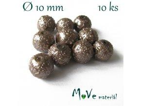 "Voskové perle ""Zigana"" 10mm, 10ks, béžové"