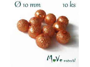 "Voskové perle ""Zigana"" 10mm, 10ks, oranžové"