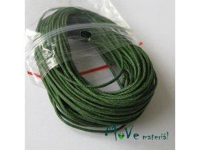 Šňůra voskovaná bavlněná 1mm, 10m, tm. zelená