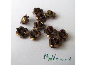 Korálek růžička 6mm, 10ks hnědý