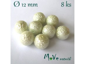 """Voskové perle """"Zigana"""" 12mm, 8ks, bílé"""