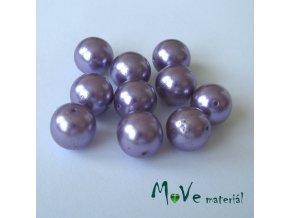 České voskové perle fialové 11mm, 10ks