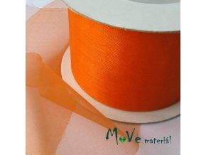 Šifónová stuha řezaná 50mm, 1m, oranžová