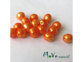 České voskové perle brambůrky oranžové 8 mm 16ks