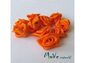 Růžička saténová12mm, 10kusů, oranžová