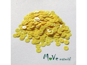 Flitry hladké 6mm, 5g, žluté