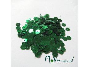 Flitry hladké 6mm, 5g, zelené