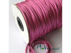 Šňůra 2mm saténová růžovofialová,1m