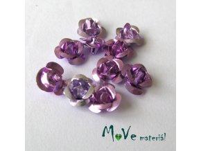 Korálek růžička 6mm, 10ks fialový
