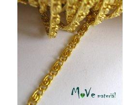 Řetízek kovový 2,5x6,5mm,1m, zlatý