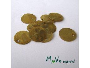 Perleťové penízky 13mm, 10ks, béžové