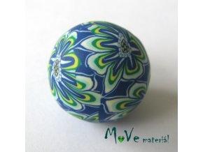 Fimo korálek 20mm, 1kus, modrozelený