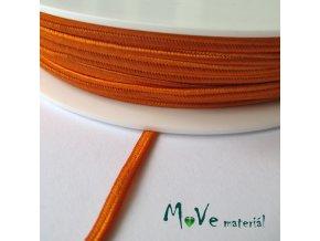 Sutaška š. 3mm viskóza ČESKÝ VÝROBEK,1m, oranžová