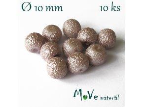 """Voskové perle """"Zigana"""" 10mm, 10ks, béžovorůžové"""