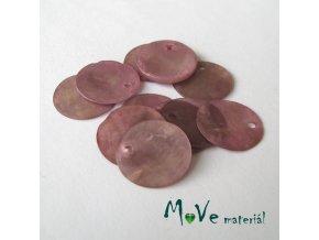Perleťové penízky 15mm, 10ks, růžovofialové