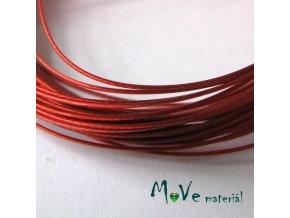 Nylonové lanko 0,45mm, 2,5m, červené