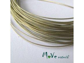 Nylonové lanko 0,45mm, 2,5m, zlatobéžové