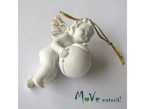 Závěsný andělíček s kouličkou - dekorace