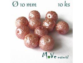 """Voskové perle """"Zigana"""" 10mm, 10ks, starorůžové"""