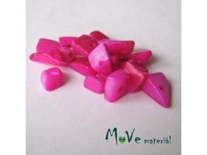 Perleťové zlomky vrtané, 10-11g, růžové