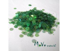Flitry hladké 4mm, 5g, zelené AB lesk