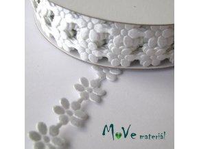 Aplikace květinky bílá - šíře 10mm, 1m