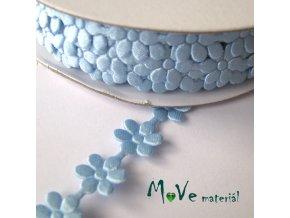 Aplikace květinky sv. modrá - šíře 10mm, 1m